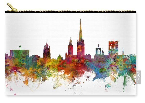 Norwich England Skyline Panoramic Carry-all Pouch