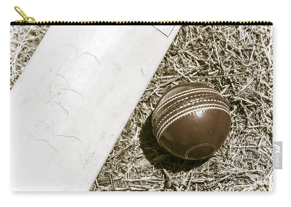 Nostalgic Cricket Bat And Ball Carry-all Pouch