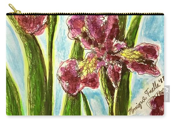 Nostalgic Irises Carry-all Pouch