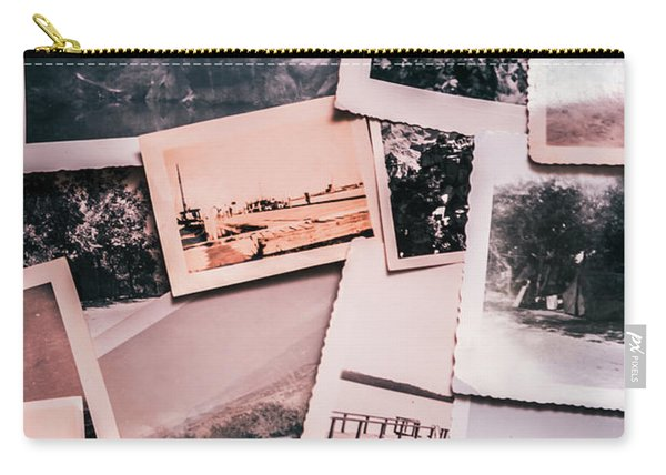 Nostalgic Photo Print Background Of A Collection Of Old Faded Sc Carry-all Pouch