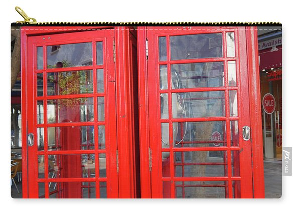 Not Quite Identical Twin Phone Boxes In Gibraltar Carry-all Pouch