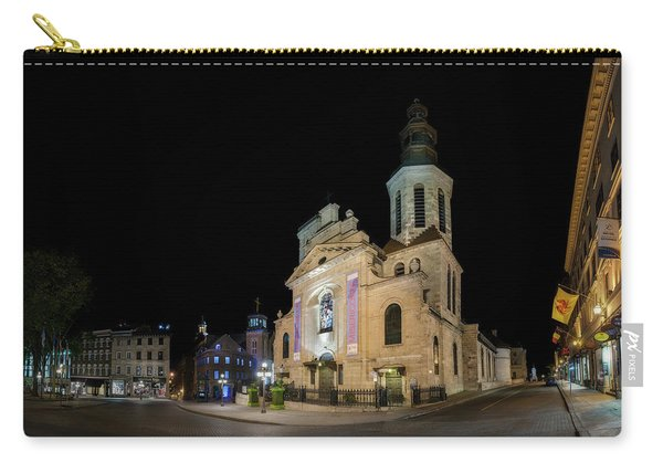 Notre-dame De Quebec Basilica-cathedral At Night Carry-all Pouch