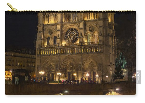 Notre Dame Night Painterly Carry-all Pouch
