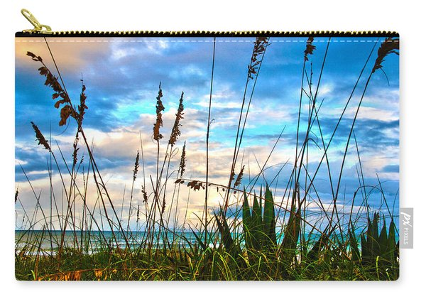 November Day At The Beach In Florida Carry-all Pouch