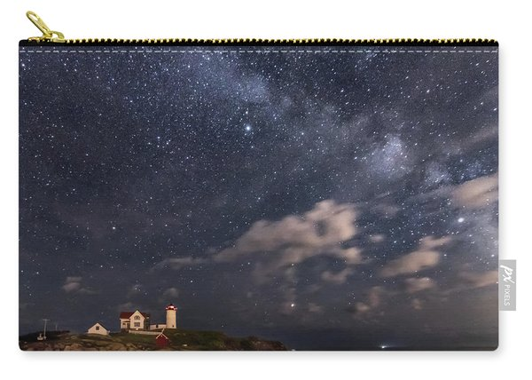Nubble Lighthouse Under The Milky Way Carry-all Pouch