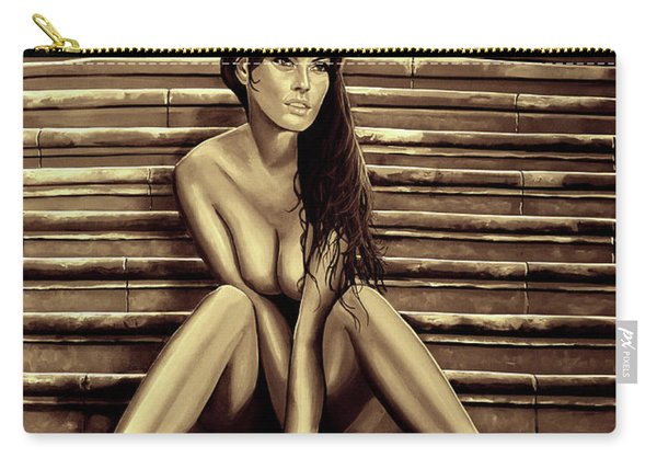 Nude City Beauty Sepia Carry-all Pouch