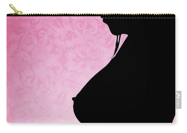 Nude Woman Silhouette Breast Cancer Awareness Carry-all Pouch