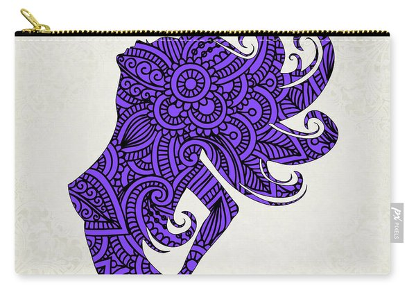 Nude Woman Silhouette Ultraviolet Carry-all Pouch