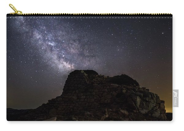 Nuraghe Of Sardinia Under The Stars Carry-all Pouch