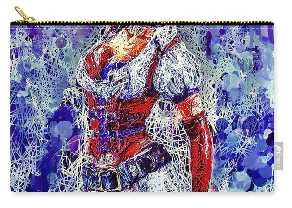 Carry-all Pouch featuring the mixed media Nurse Harley Quinn by Al Matra