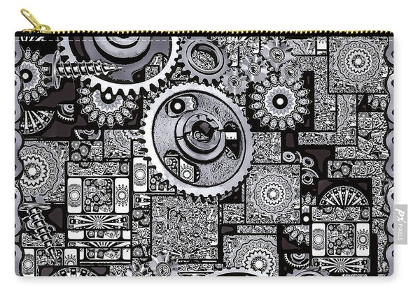 Carry-all Pouch featuring the digital art Nuts And Bolts by Eleni Mac Synodinos