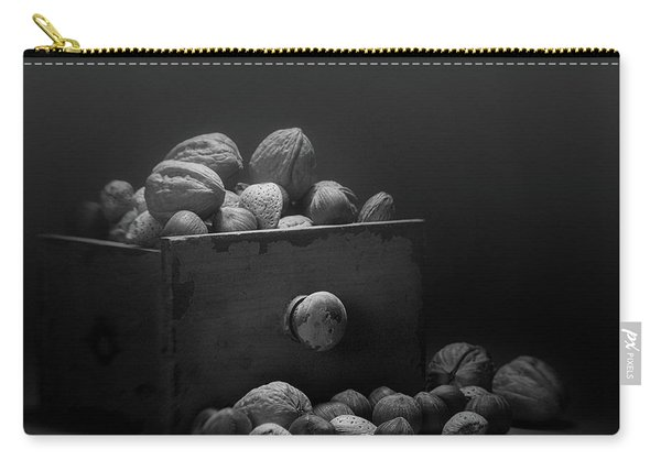 Nuts In Black And White Carry-all Pouch