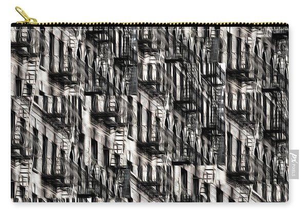 Nyc Fire Escapes Carry-all Pouch