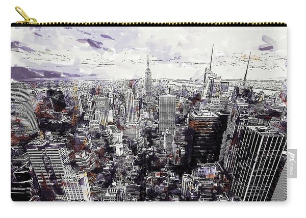 Nyc View From Rockefeller Center Carry-all Pouch
