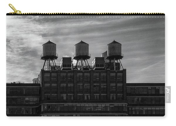 Carry-all Pouch featuring the photograph New York Water Towers by Michael Hope