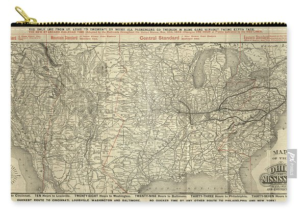 O And M Map Carry-all Pouch