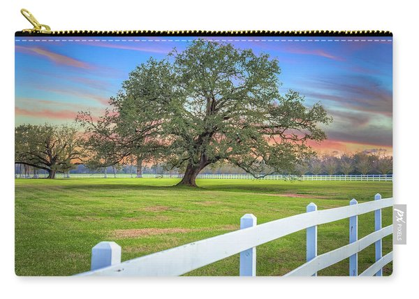 Oak Alley Signature Tree At Sunset Carry-all Pouch