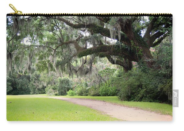 Carry-all Pouch featuring the photograph Oak Over The Trail by Michael Colgate