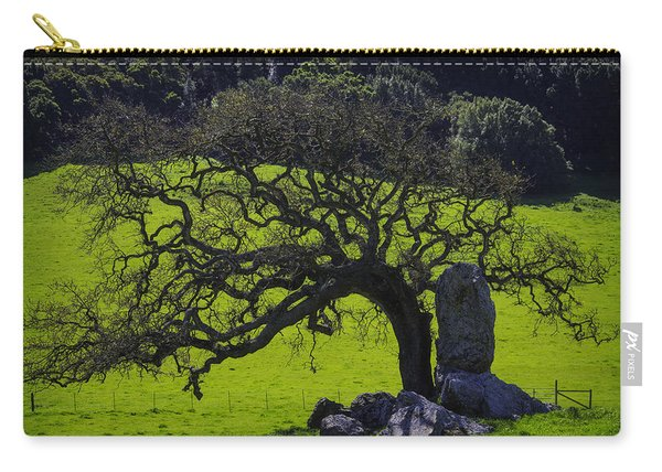 Oak Tree And Rock Carry-all Pouch
