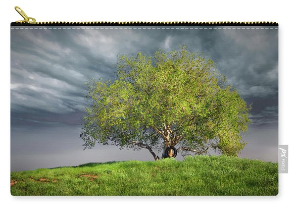 Oak Tree With Tire Swing Carry-all Pouch