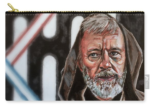 Carry-all Pouch featuring the painting Obi-wan Kenobi's Last Stand by Joel Tesch
