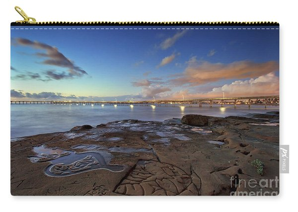 Carry-all Pouch featuring the photograph Ocean Beach Pier At Sunset, San Diego, California by Sam Antonio Photography