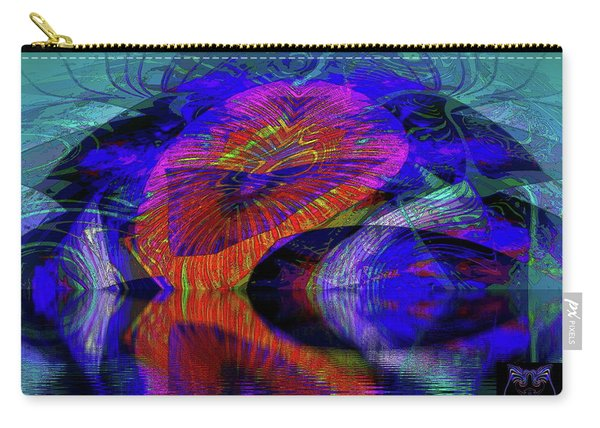 Carry-all Pouch featuring the digital art Ocean Cavern by Visual Artist Frank Bonilla