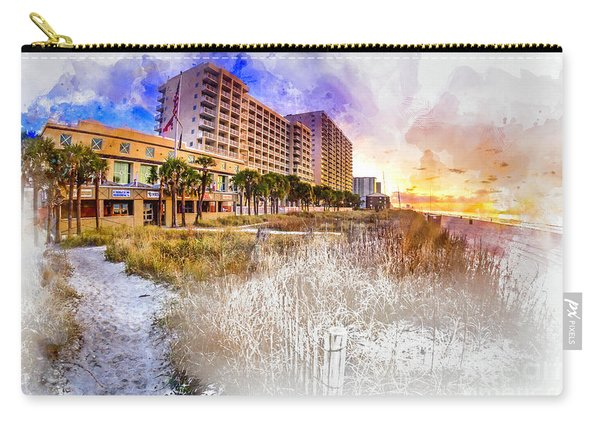 Ocean Drive Sunrise Watercolor Carry-all Pouch