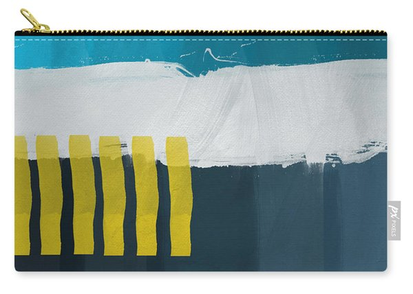 Ocean Front Walk 2- Art By Linda Woods Carry-all Pouch