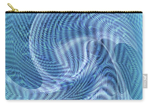 Carry-all Pouch featuring the digital art Ocean II by Visual Artist Frank Bonilla