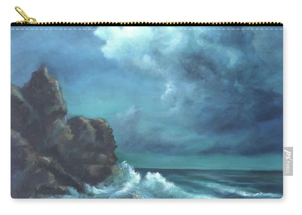 Seascape And Moonlight An Ocean Scene Carry-all Pouch