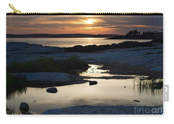 Ocean Point Sunset In East Boothbay Maine  -23091-23093 Carry-all Pouch