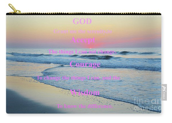 Ocean Sunrise Serenity Prayer Carry-all Pouch