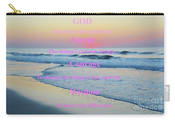 Ocean Sunrise Serenity Prayer Carry-all Pouch