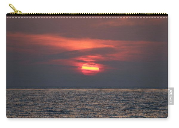 Carry-all Pouch featuring the photograph Ocean Sunset - 5 by Christy Pooschke