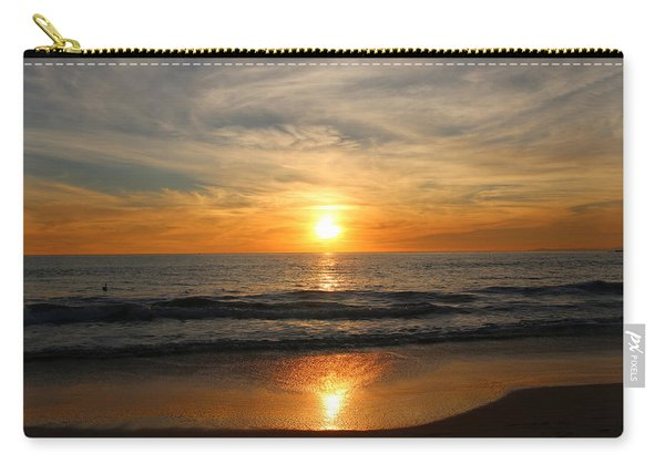 Carry-all Pouch featuring the photograph Ocean Sunset - 7 by Christy Pooschke