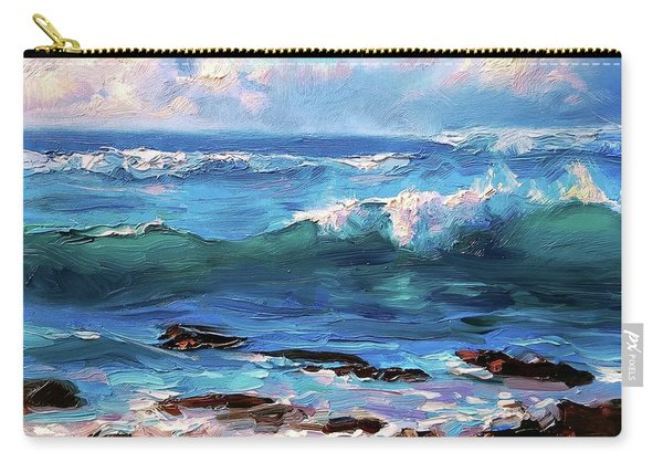 Coastal Ocean Sunset At Turtle Bay, Oahu Hawaii Beach Seascape Carry-all Pouch