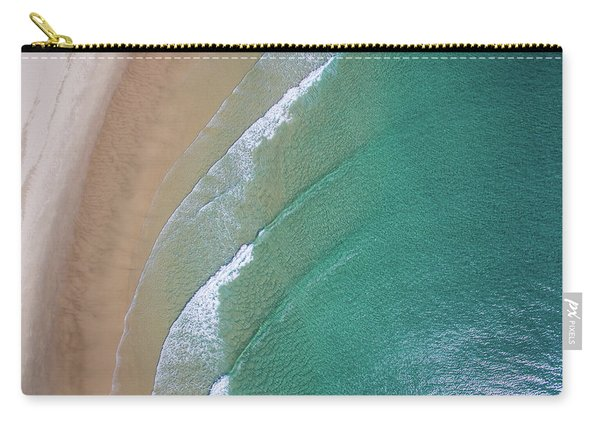 Ocean Waves Upon The Beach Carry-all Pouch