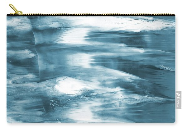 Oceanside- Abstract Art By Linda Woods Carry-all Pouch