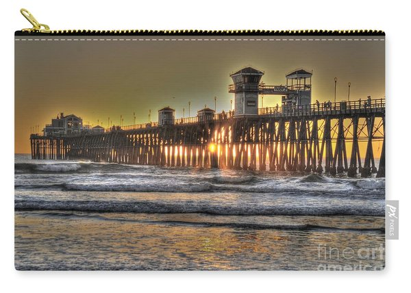 Oceanside Pier Hdr  Carry-all Pouch