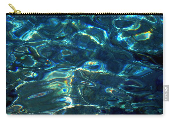 Ocean Water Reflections Island Santorini Greece Carry-all Pouch