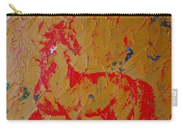 Ochre Horse Carry-all Pouch