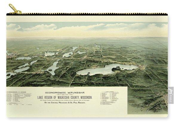 Oconomowoc, Waukesha And The Lake Region Of Waukesha County, Wisconsin, Chicago Carry-all Pouch