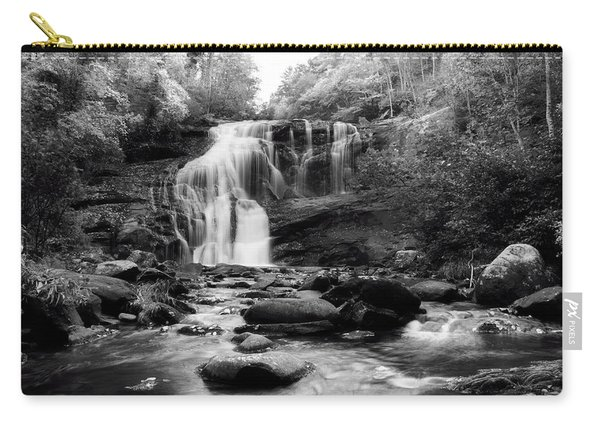 October At Bald River Falls In Black And White Carry-all Pouch