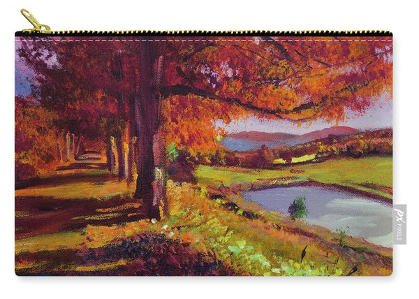 October Country Road - Plein Air Carry-all Pouch