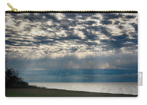 Carry-all Pouch featuring the photograph October Sky by William Selander