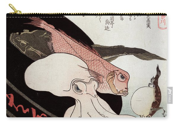 Octopus And Ocean Fish Carry-all Pouch