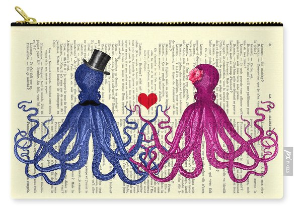 Octopus Couple Carry-all Pouch