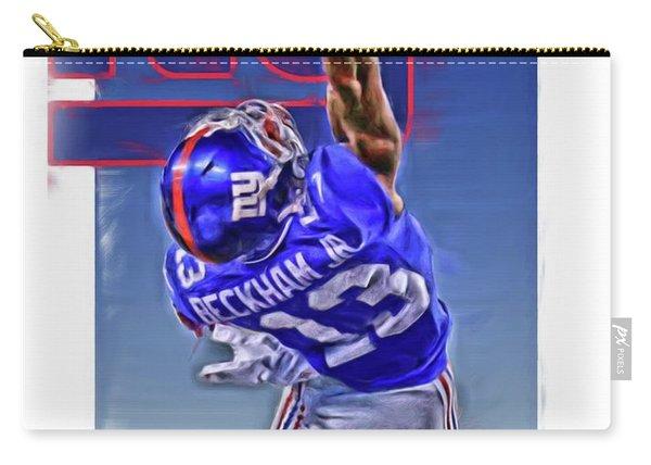 Odell Beckham Jr New York Giants Oil Art 2 Carry-all Pouch