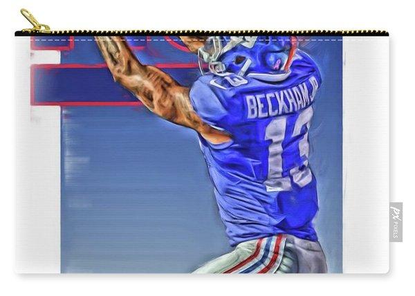 Odell Beckham Jr New York Giants Oil Art 3 Carry-all Pouch
